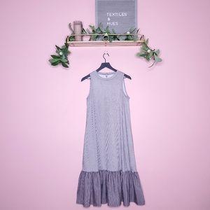 ASOS Contrast Stripe Maxi Mermaid Dress